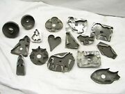 Early Tin Cookie Cutters Farm Animals Folk Art Duck Rooster Star Cow/horse Heart
