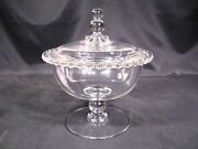 Imperial Glass Candlewick Footed Candy Jar And Cover Pattern 3400 Mold 400/140