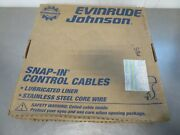 Ebm M65 Evinrude Johnson Snap In Control Cable 173115 15ft