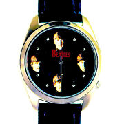 Beatles Collectible Fossil Mans Boxed Watch Numbered X Of 10k Leather Band 189