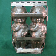 Antique Anton Reiche Hinged Chocolate Mold Mould Baby Dolls Marked Tc Weygandt