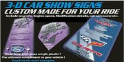3d Car Show Sign Board Made To Order Ford Dodge Mustang Chevy Parts Coffee Cars