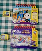 My First Leappad Lot Of 2 Books And Cartridges Leap To The Moon And Thomas School