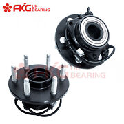 2 Front Wheel Hubs And Bearings Pair W/ Abs For 99 - 06 Chevy Gmc Truck 4wd 515036
