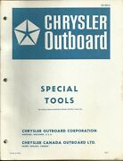 Chrysler Outboard Marine Boat Special Tools Catalog Booklet Ob 693-8