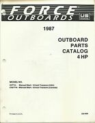 Us Marine Power Force Outboards 4 Hp Models 1987 Parts Catalog Ob4096