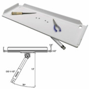 Taco 32 Poly Filet Cut Prop Table W/ Adjustable Gunnel Mount P01-2132w Boat Lc