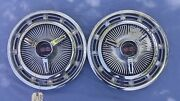Pair 3893599 Ss 14 Stainless Full Wheel Covers W/3860217 Inserts L48 L78 L79