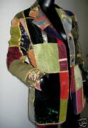 New 90and039s Dolce And Gabbana Collectors Velvet And Wool Patch Jacket Blazer 42 6-8