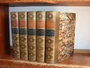 Old Tales Of The Borders / Of Scotland Leather Book Set Historical Tradition Lot