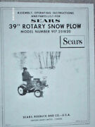 917.251820- Sears Suburban 39in Rotary Snow Plow Owners Manual On Cd