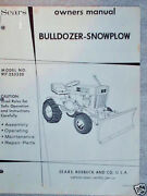 917.253330 Sears Tractor Bull Dozer-snow Plow Owners Manual On Cd