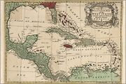 Poster, Many Sizes Map Of The West Indies Cuba Florida Mexico 1755