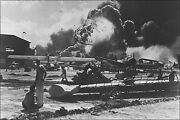 Poster, Many Sizes Naval Air Station At Pearl Harbor Following Japanese Attack