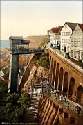 Poster Many Sizes Elevator And Grand Staircase Helgoland Germany Bight 1890