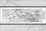 Poster Many Sizes Automobile Road Map From Los Angeles To San Fernando Valley