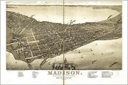Poster Many Sizes Map Of Madison Wisconsin 1885 P2