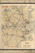 Poster Many Sizes Area And039kand039 Administrative Map Devon England Operation Overlo