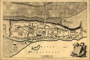 Poster, Many Sizes Map Of Montreal Or Villemarie In Canada 1768