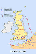Poster Many Sizes Chain Home Radar Cover Bases And Group Boundaries Battle Of