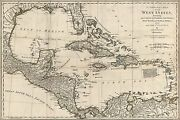 Poster, Many Sizes Map Of The West Indies Cuba Florida Jamaica 1776