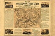 Poster Many Sizes Map Of Appomattox Court House And Vicinity 1866