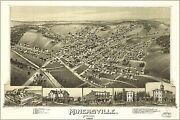Poster Many Sizes Map Of Minersville Pennsylvania 1889