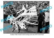 Old 8x6 Photo Featuring Polly Farmer Leading Out Geelong Fc 1966 Grand Final