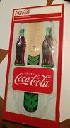 Coca-cola Double Bottle Thermometer 2009 New In The Box