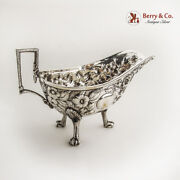 Repousse Large Gravy Boat Ball Claw Feet Kirk And Son 11 Oz Coin Silver C1880