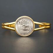Us 2013 New Hampshire White Mountain National Forest Quarter Coin Gp Bracelet