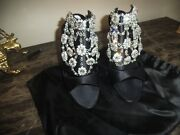 Nwt No Box Sold Out Manolo Blahnik Full Front Rhinstones Pics Do Not Do Justice