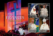 Union Island 2014 - Pope Francis Visits Brazil Sheet Of 4 Stamps 2 Mnh