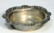 Round Tray Silver Plate Poole Old English 5042 Wine Bottle Coaster Ornate Dish