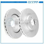 Front Discs Brake Rotors For Land Rover Sport 2006-2009 Drilled And Slotted