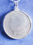 1215 Morgan Liberty Head 1899 Us Silver Dollar Coin Jewelry- Coin Is Removable