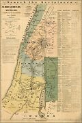 Poster Many Sizes Bible Map Of Jesus In Israel Palestine 1881