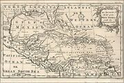 Poster, Many Sizes Map Of West Indies Cuba Florida Mexico 1750 P1