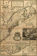 Poster, Many Sizes Map Of British Land In North America 1731