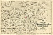 Poster Many Sizes Bible Map Of Environs Of Jerusalem Israel 1881