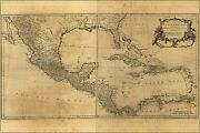 Poster, Many Sizes Map Of West Indies Florida Cuba Mexico 1768