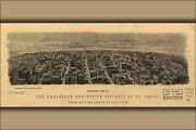 Poster, Many Sizes Panoramic Map Wholesale District St. Louis 1904