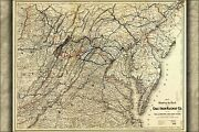 Poster Many Sizes Map Of Coal And Iron Railway Co. Railroad 1882