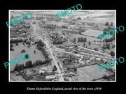 Old 8x6 Historic Photo Of Thame Oxfordshire England Aerial View Of Town 1950 2