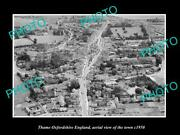 Old 8x6 Historic Photo Of Thame Oxfordshire England Aerial View Of Town 1950 5