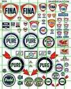 4024 Dave's Decals Assorted Vintage Service Station Fina Pure Gas Oil Signs
