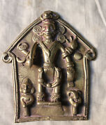 Indian Antiques Vintage Old Brass India Religious Figurines God Statue 01