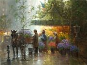 Springtime In Central Park - G Harvey -sign And Number Ltd Ed Cnvs -gallery Stock