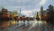 Cowboys Payday - G Harvey - Sign And Number Ltd. Ed Print - Gallery Stock