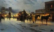 Santa Fe - End Of The Trail -g Harvey -signed And Number Ltd Ed Artist Proof